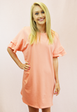 Coral Me Crazy Dress - Coral