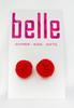 pom squad earrings - red