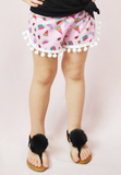 lil' belle watermelon pom shorts - pink