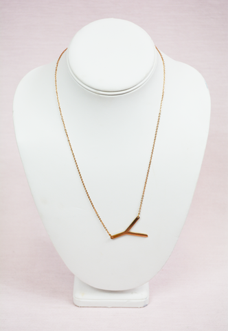 rose gold modern touch initial necklace - i