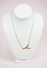rose gold modern touch initial necklace - y