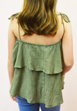 tried and true spaghetti tank - olive