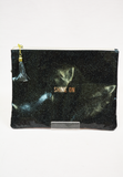shine on glitter pouch - black