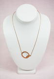 rose gold modern touch initial necklace - q