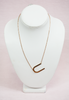 rose gold modern touch initial necklace - u