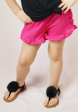 lil' belle ruffle shorts - hot pink