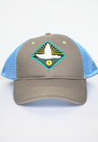 flying duck trucker hat-midnight grey