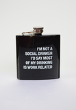 work related flask-black