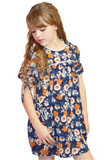 lil belle garden muse dress-indigo