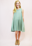 pocket dress - sage
