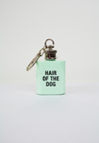 hair of the dog key ring flask-mint