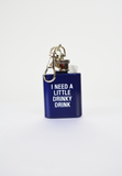 a little drinky drink key ring flask-navy