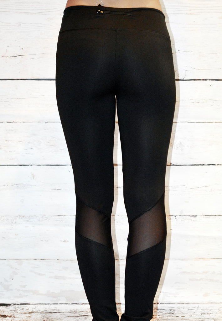 just enough cutout legging - black