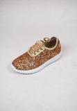 lil' belle sparkle on tennis shoes - rose gold