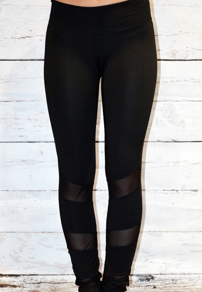 give it to me straight cutout leggings - black