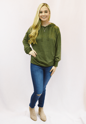 Colorblock Knit Sweater - olive