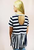 Striped Sweetie Top - Navy