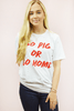 hey y'all distressed go pig top - white