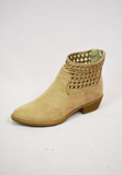 simple weave booties - tan