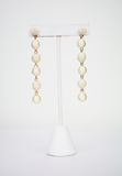 going in circles earrings-cream