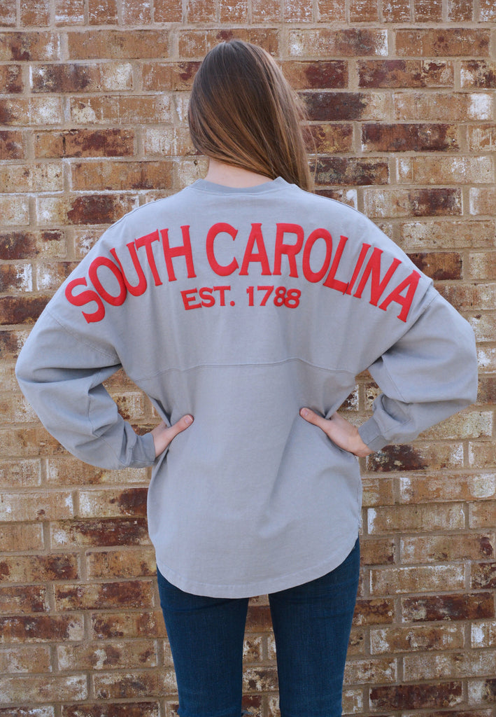 state pride spirit jersey south carolina-gray