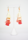 tiered to perfection tassel earrings-pink