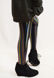 striped leggings - black/multi
