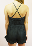 denim daze romper - dark denim