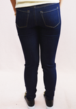sneak peek mid rise jeans - dark wash