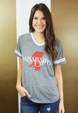 mississippi state pride tee-grey