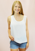 the chiffon tank - white