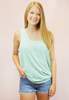 the chiffon tank - mint