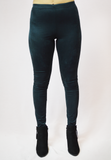 high times suede leggings - black