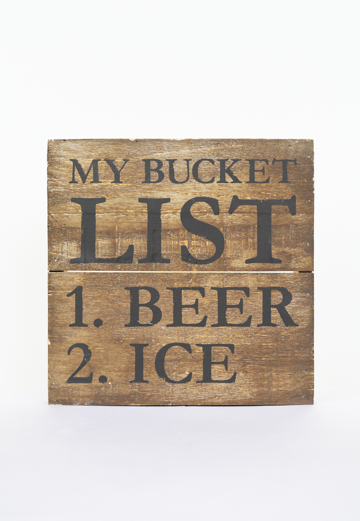bucket list plaque