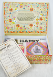 happy box-cream with flowers