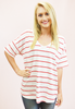 Where's Waldo Striped Top - Red/White