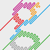Gill Stripe - typographic font design poster detail
