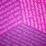 Helveticube - typographic font design poster detail