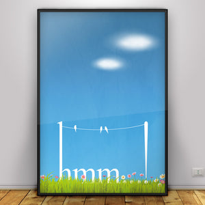 Hmm - graphic design poster