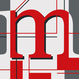 M - typographic font design poster detail
