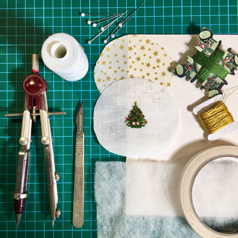Materials needed to finish an ornament