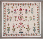 Crowns and Flowers Sampler - 1800s-1830s original sampler