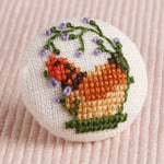 Spring Chicken: Hand-Embroidered Pin