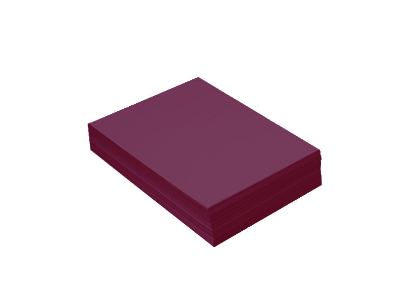 "100 Pack - 4bar Panel Card (3.5""x5""): Metallic Violet (Ruby)"
