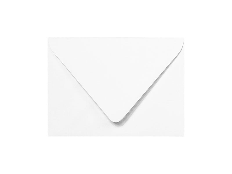 100 Pack - A2 Classic Linen Euro Flap Envelope: Brilliant White