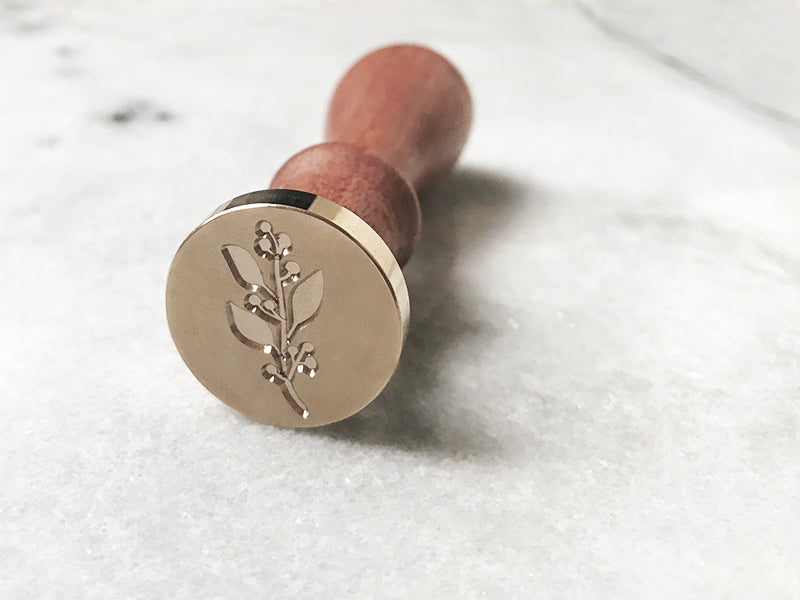 "Berry Branch 1"" Dia. Wax Stamp"