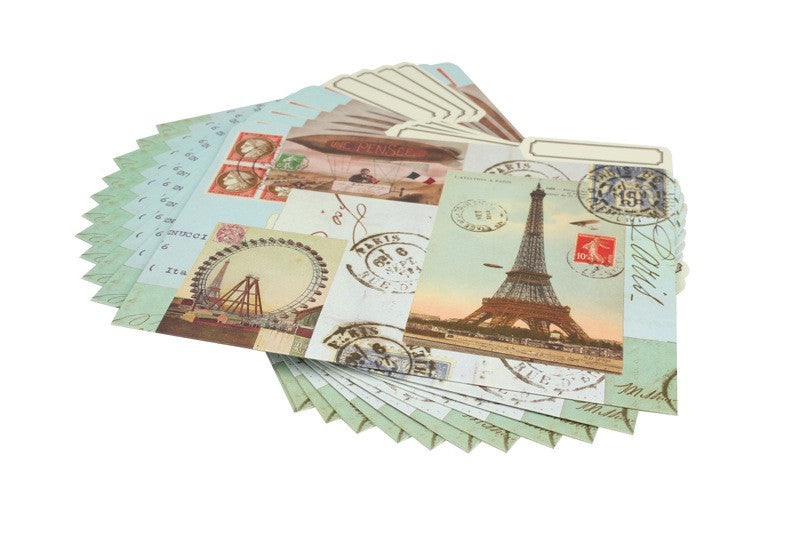 Paris Collage File Folder Set