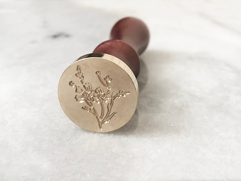 "Cherry Blossom Branch 1"" Dia. Wax Stamp"