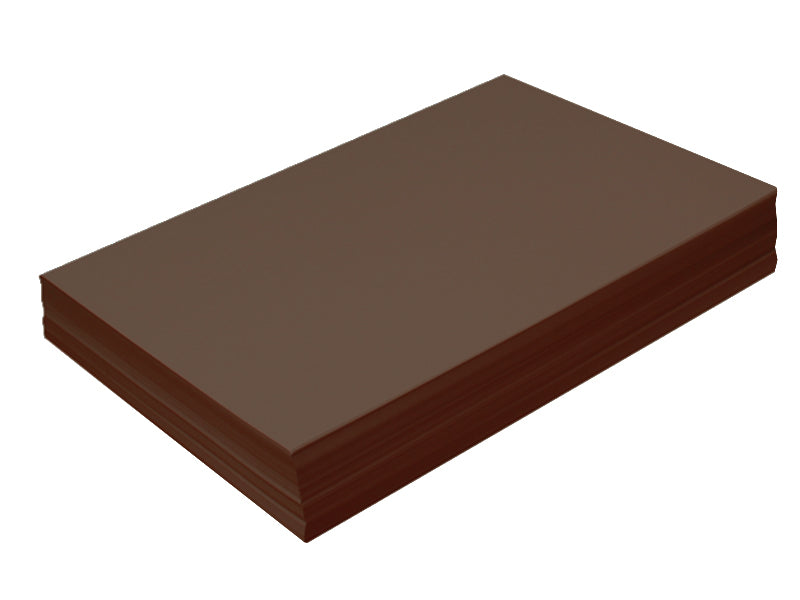 "98 pack - 6.125"" x 11"" Metallic Cardstock 105lb : Metallic Choclate Bronze"