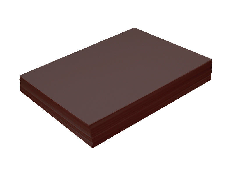"100 pack - Matte Smooth Cardstock 8.5""x11"" Sheets 100lb: Chocolate"